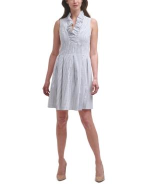 Sleeveless Ruffled Fit & Flare Dress