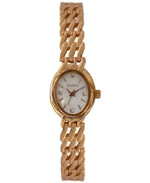 Women's Rose Gold-Tone Slanted Bracelet Watch