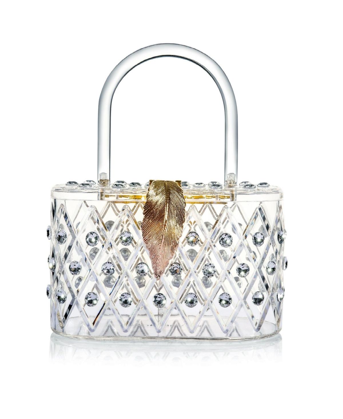 "Milanblocks ""The Princess"" 50's Style Top Handle Crystal Box Clutch Handbag"