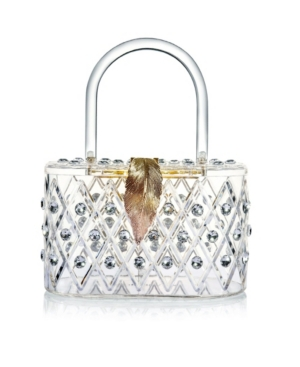 """The Princess"" 50's Style Top Handle Crystal Box Clutch Handbag"