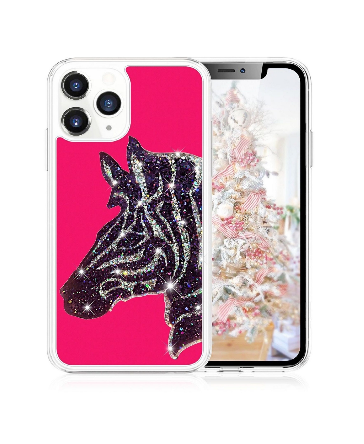 Milanblocks iPhone 11 Pro Max Zebra Glitter Phone Case