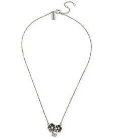 Tea Rose Cluster Pendant Necklace