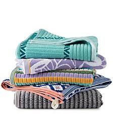 Curacao Cotton Yarn-Dyed Jacquard Bath Towel Collection