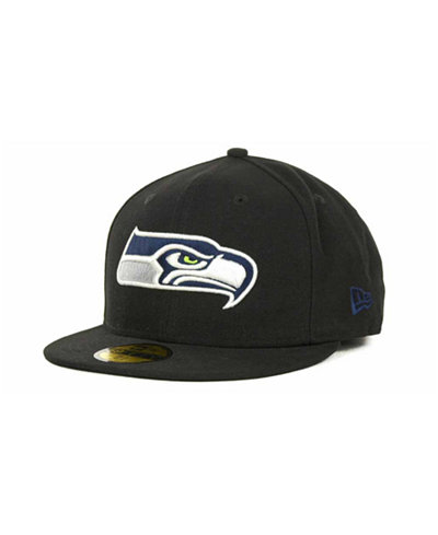 New Era Seattle Seahawks NFL Black Team 59FIFTY Cap