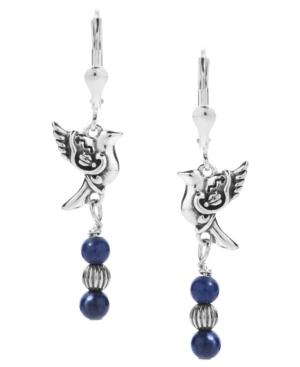by Carolyn Pollack Sodalite Bird Dangle Earrings in Sterling Silver