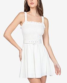 Juniors' Belted Dress