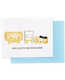 Dad Roll Model Greeting Card