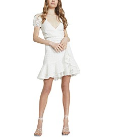 Nadia Cutout Tie-Back Eyelet Dress