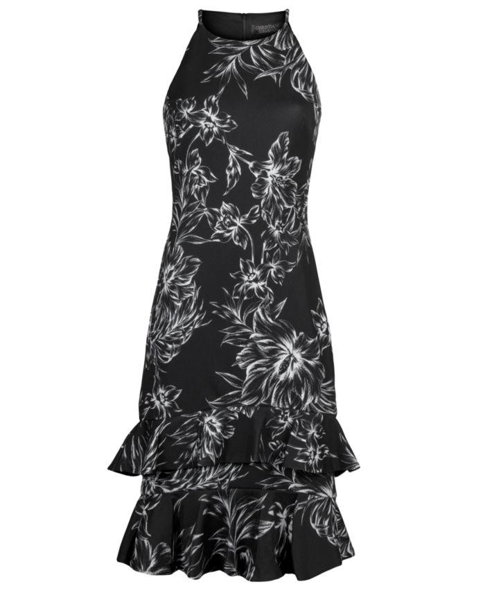RACHEL Rachel Roy High-Neck Tiered-Hem Dress & Reviews - Dresses - Women - Macy's