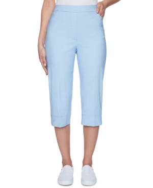 1960s Pants – Top 10 Styles for Women Alfred Dunner Plus Size Classic Capri Pants $33.60 AT vintagedancer.com