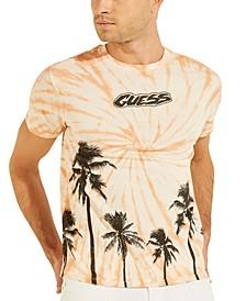 Men's Venice Palms Tie-Dyed Logo Graphic T-Shirt