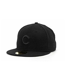 Chicago Cubs Black on Black Fashion 59FIFTY Cap
