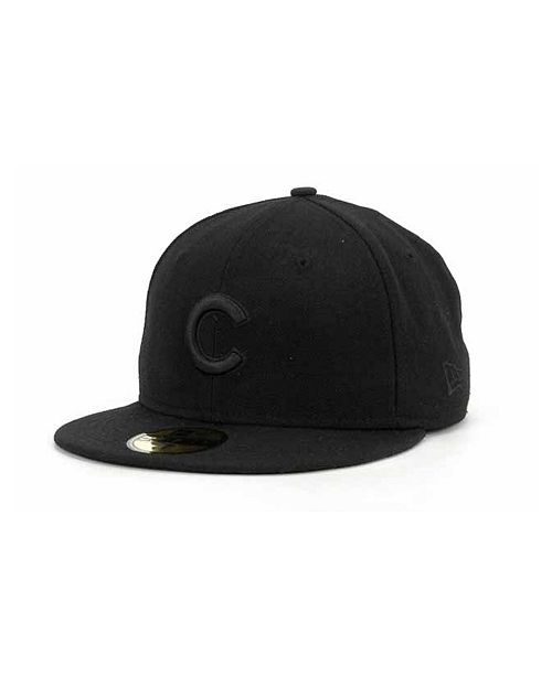 New Era Chicago Cubs Black on Black Fashion 59FIFTY Cap