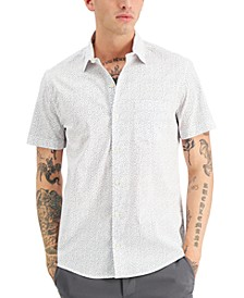 Men's Classic-Fit Triangle-Print Shirt, Created for Macy's