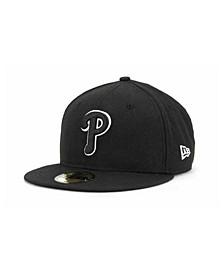 Philadelphia Phillies Black and White Fashion 59FIFTY Cap