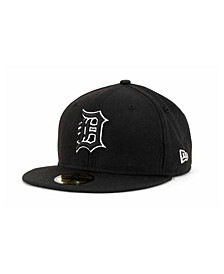 Detroit Tigers Black and White Fashion 59FIFTY Cap