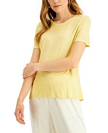 Petite Knit T-Shirt, Created for Macy's