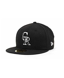 Colorado Rockies Black and White Fashion 59FIFTY Cap