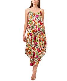 Cropped Floral-Print Jumpsuit