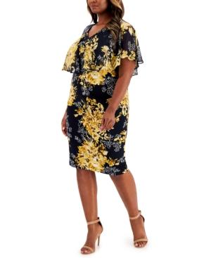 Plus Size Floral-Print Sheath Dress