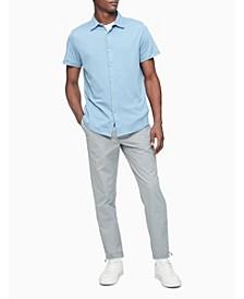 Men's Knit Button-Down Short Sleeve Shirt
