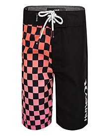 Little Boys Checkered Boardshorts