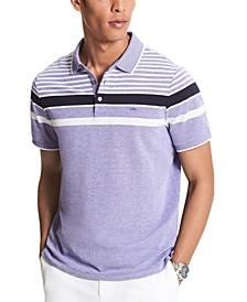 Men's Birdseye Striped Polo Shirt