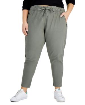 Trendy Plus Size Zip-Pocket Pull-On Pants