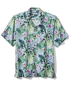 Men's Garden of Hope Floral Silk Short-Sleeve Shirt