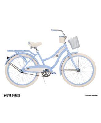 Huffy 24-Inch Deluxe Girls Cruiser Bike for Women