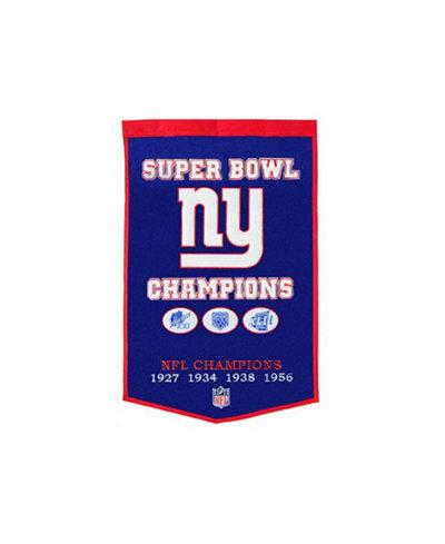 Winning Streak New York Giants Dynasty Banner