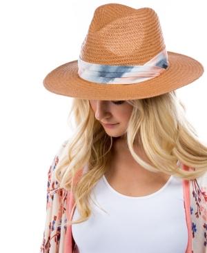 Women's Tie Dye Band Panama Hat