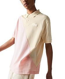 Lasoste Men's Diagonally Blocked Polo Shirt