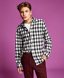 Men's Flannel Button-Up Shirt