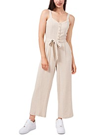 Belted Button-Top Jumpsuit, Created for Macy's
