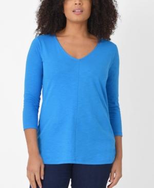 Women's 3/4 Sleeve Cotton Swing Top