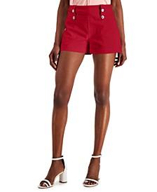 INC High-Waist Bengaline Shorts, Created for Macy's