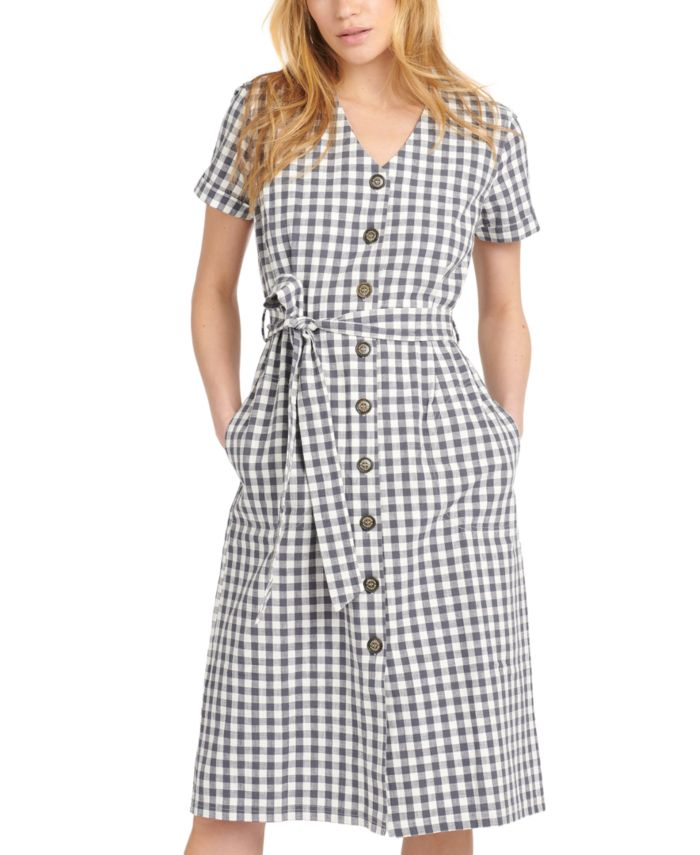 Barbour Peregrine Cotton Gingham Dress & Reviews - Dresses - Women - Macy's