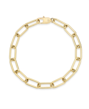 Large Cable Link Bracelet in Gold-Tone Ion-Plated Stainless Steel