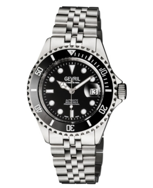 Men's Wall Street Swiss Automatic Stainless Steel Bracelet Watch 43mm