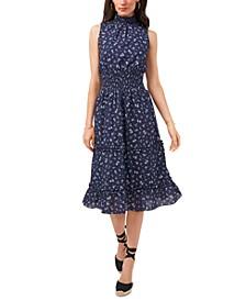 Cotton Eyelet-Embroidered Smocked Dress