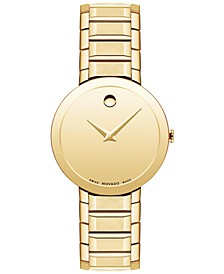 Women's Swiss Sapphire Gold PVD Bracelet Watch 28mm