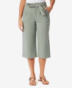 Women's High Rise Pleated Culotte Pants