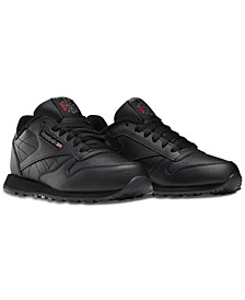 Big Kids Classic Leather Casual Sneakers from Finish Line