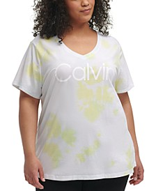 Plus Size Tie-Dye Logo T-Shirt