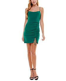 Juniors' Gathered-Front Bodycon Dress