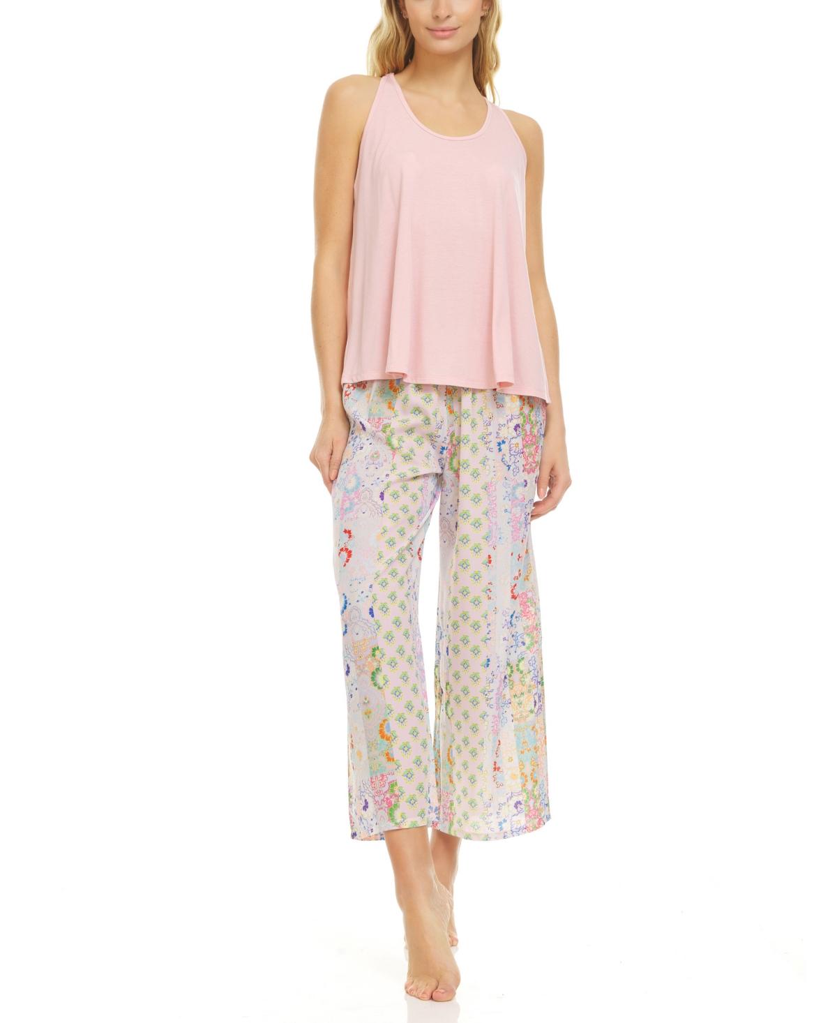 Flora Nikrooz Collection Women's Nadia 2 Piece Pajama Capri Set