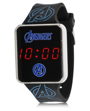 Avengers Kid's Touch Screen Black Silicone Strap Led Watch