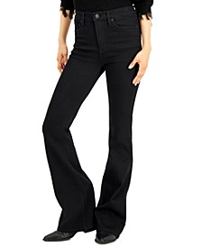 Juniors' High Rise Flare Jeans