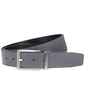 나이키 맨 골프웨어 골프 벨트 Nike Mens Reversible Textured Core Belt, Created for Macys,Gray